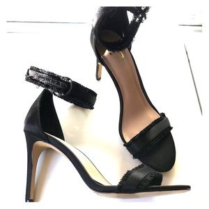 Strapped heel
